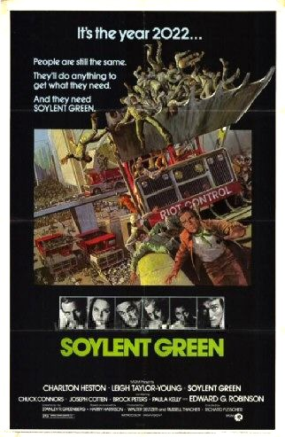 soylent green essay Taken from a 70's film soylent green is a supposedly soy and lentil based nutrition source which later turns out to be made out of harvested humans hence the quote.